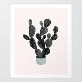Cactus in pink var 2 Art Print