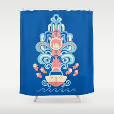 Ponyo Deco Shower Curtain