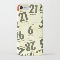 calendar iPhone & iPod Cases featuring CLOSEUPS - Calendar Sheets by Cordula Kerlikowski