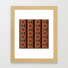 southwest stripe Framed Art Print