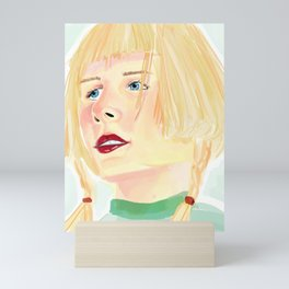 Aurora Aksnes Watercolor Painting Mini Art Print