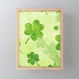 Green Shamrocks Framed Mini Art Print