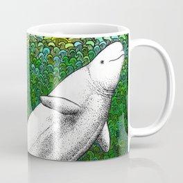 Beautiful beluga whale in the ocean Coffee Mug