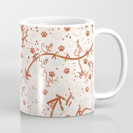Peppermint Candy Paw Prints Coffee Mug