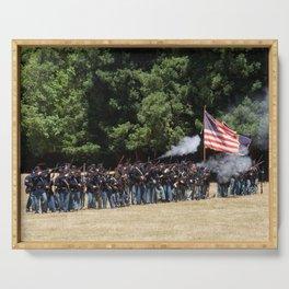 Civil War Battle Re-Enactment Serving Tray