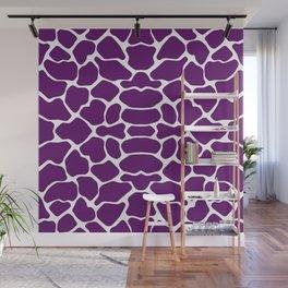 African Violet Safari Giraffe Wall Mural