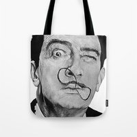 salvador dali Tote Bags featuring Salvador Dali by Breanna Speed