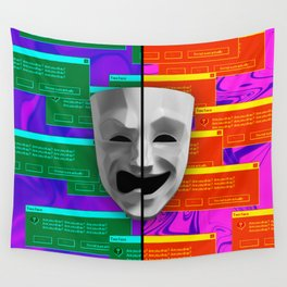 Two face glitch Wall Tapestry