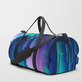 Glitches Be Trippin' - Abstract Pixel Art Duffle Bag