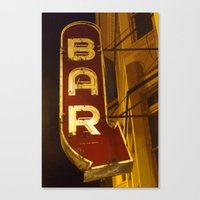 bar Canvas Prints featuring Bar by Joseph Skompski