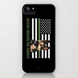 Military Working Dog Handler iPhone Case