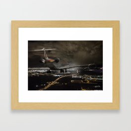 Wind 360 20 kts clear to land Framed Art Print