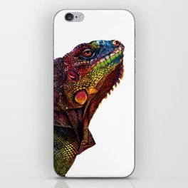 Iguana Watercolor Painting By Windy Shih iPhone Skin