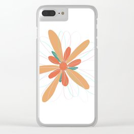 Single Bloom Clear iPhone Case