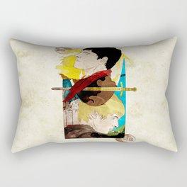 The King and His Sorceror Rectangular Pillow