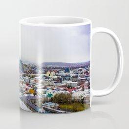 Rainbow Roofs and Buildings of Reykjavik Iceland Coffee Mug