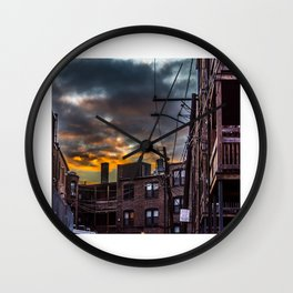 Sunset Alley Wall Clock
