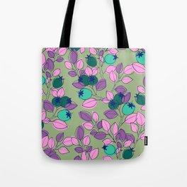 Purple Rosehips Tote Bag