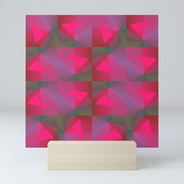 Geometric Strawberries Mini Art Print