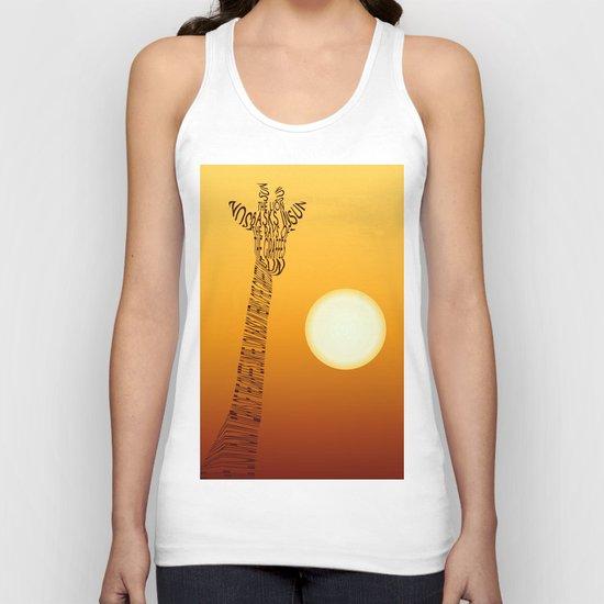 Giraffe and sun Unisex Tank Top