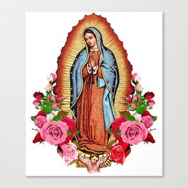 Our Lady of Guadalupe with roses Canvas Print