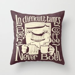Beer or Coffee Throw Pillow