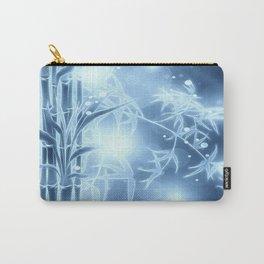 Bambuszweige - blau coloriert Carry-All Pouch