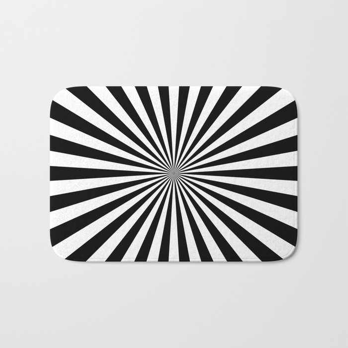 Starburst (Black/White) Bath Mat