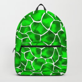 Watercolor Giraffe's Spots (Green) Backpack