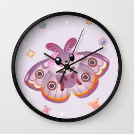 Marbled Emperor Moth Wall Clock