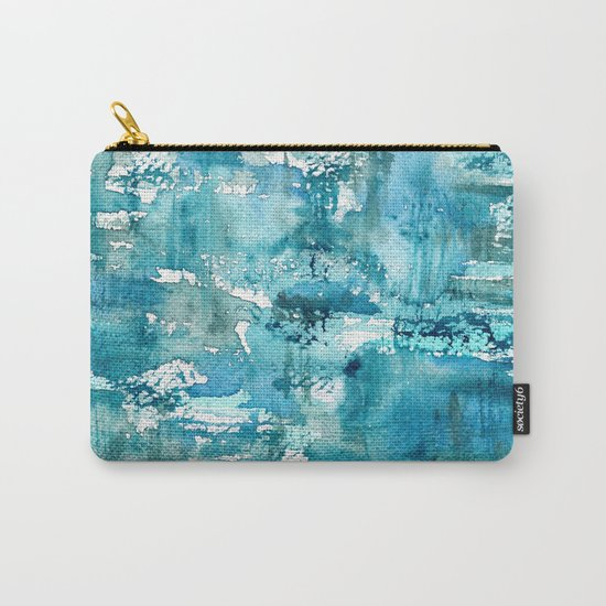 Turquoise blue passion    watercolor Carry-All Pouch