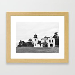 Admiralty Head Lighthouse Fort Casey Whidbey Island PNW Framed Art Print