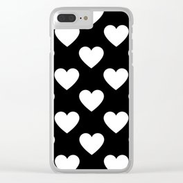 Heart Pattern Clear iPhone Case