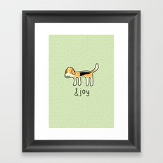 Cute Beagle Dog &joy Doodle Framed Art Print