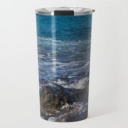 rock in the waves Travel Mug