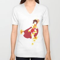 sakura V-neck T-shirts featuring Sakura by JHTY