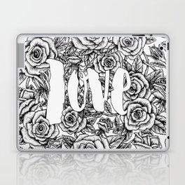 Love - Roses Illustration Laptop & iPad Skin