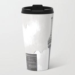 Monochrome Tower Travel Mug