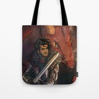 dungeons and dragons Tote Bags featuring Dragons and Direction: Zayn by invisibleinnocence