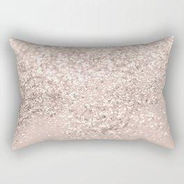 Blush Glitter Dream #4 #shiny #decor #art #society6 Rectangular Pillow