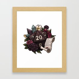 Warlock Class D20 - Tabletop Gaming Dice Framed Art Print