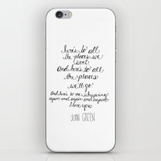 Here's to all the places we'll go... iPhone & iPod Skin