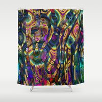 wild things Shower Curtains featuring Wild Things by RingWaveArt
