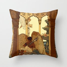 Angels in Oasis Throw Pillow
