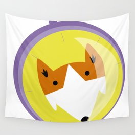 Compass fox Wall Tapestry