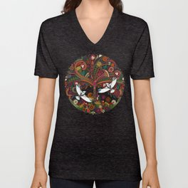 tree of life black Unisex V-Neck