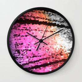 Lavender Pink Peach Crystal Texture Wall Clock