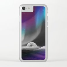 Moon After birth Clear iPhone Case