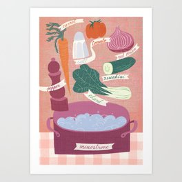minestrone time Art Print