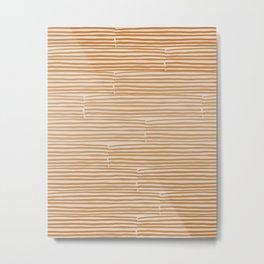 hand drawn light lines –rust Metal Print
